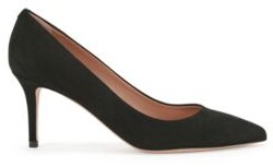 BOSS Suede court shoes with 70mm heel