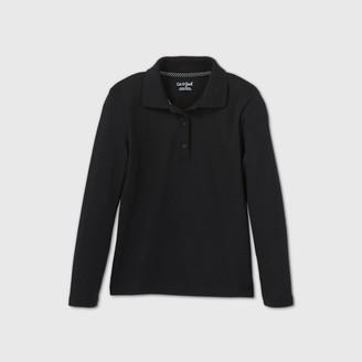 Cat & Jack Girls' Long Sleeve Interlock Uniform Polo Shirt - Cat & JackTM