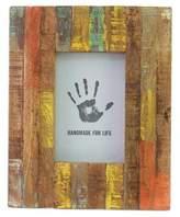 Painted Reclaimed Mango Wood Photo Frame (4x6), 'Making Memories'