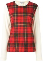 Comme des Garcons tartan panel sweater - women - Wool - S