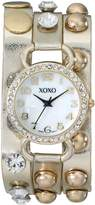 XOXO Women's XO5609 Gold Studded Double Wrap Watch