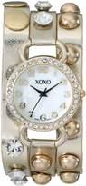 XOXO Women's XO5609 Gold Studded Double Wrap Watch