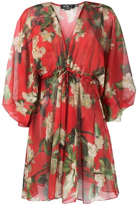 PatBO All-Over Floral Coverup Dress