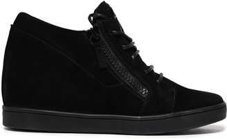 Giuseppe Zanotti Ilean Suede Wedge Sneakers