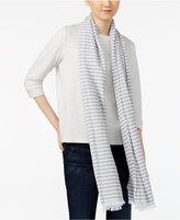 Eileen Fisher Organic Cotton Striped Scarf