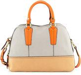Oryany Leslie Colorblock Satchel Bag, Dove Multi