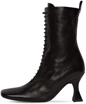 Miista 80mm Yana Lace-up Leather Boots