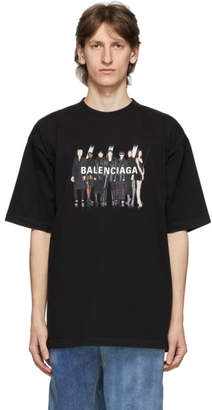 Balenciaga Black Real Logo T-Shirt