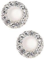 Nadri Sparkling Faux Pearl Stud Earrings