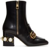 Gucci Black Pearl & Stud Peyton Boots