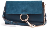 Chloé Faye mini leather and suede cross-body bag