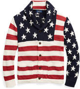 Ralph Lauren Flag Cotton-Blend Cardigan