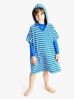 John Lewis & Partners Boys' Stripe Towelling Poncho, Blue