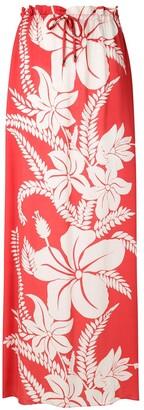 AMIR SLAMA Floral-Print Maxi Skirt