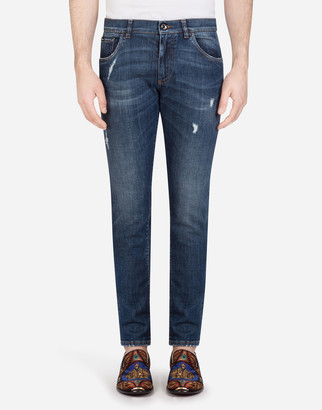 Dolce & Gabbana Stretch Skinny Jeans With Small Abrasions