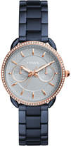 Fossil Women's Tailor Blue Stainless Steel Bracelet Watch 35mm
