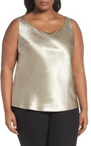 Lafayette 148 New York Plus Size Women's Reversible Silk Tank