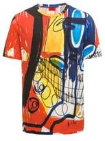 HUGO BOSS Abstract Cotton T-Shirt Dolorful M Patterned