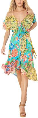 Hale Bob Cold-Shoulder Midi Dress