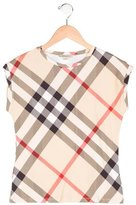 Burberry Girls' Exploded Check Crew Neck Top