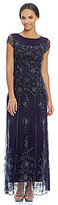 Pisarro Nights Floral Beaded Gown