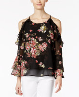 INC International Concepts Petite Printed Off-The-Shoulder Top, Only at Macy's