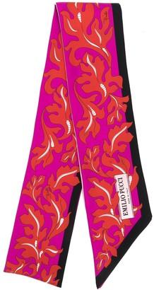 Emilio Pucci x Koche printed silk skinny scarf