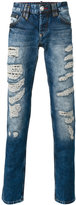 Philipp Plein light-wash distressed jeans