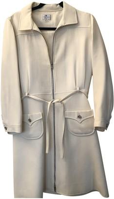 Courreges Ecru Wool Dresses