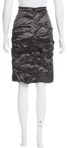 Nicole Miller Metal Ruched Skirt