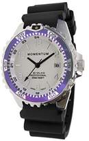 Momentum Women's Quartz Stainless Steel and Rubber Diving Watch, Color:Black (Model: 1M-DN11LP1B)