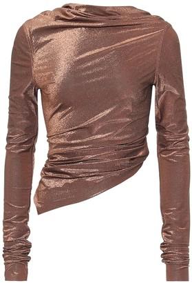 Rick Owens Lilies metallic stretch-knit top