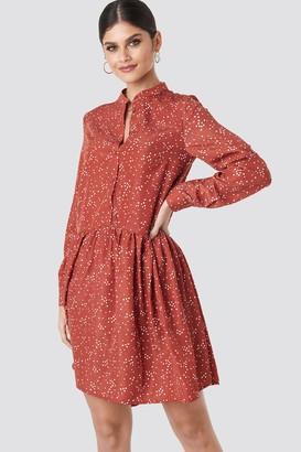 NA-KD Ruffle Hem Dot Dress