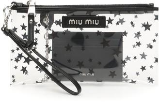 Miu Miu Transparent Star Clutch Bag