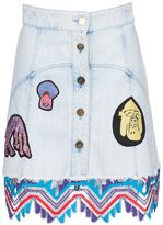 Peter Pilotto Embroidered Patch Skirt