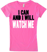 Micro Me Hot Pink 'I Can & I Will' Fitted Tee - Infant Toddler & Girls