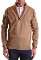 Daniele Alessandrini Men's Beige Velvet Sweater.
