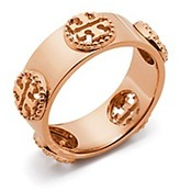 Tory Burch Milgrain Logo Ring