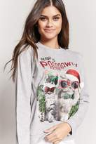 Forever 21 Ready To Pawty PJ Sweatshirt