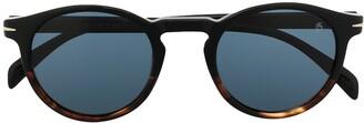 David Beckham Tortoise Shell Round Sunglasses