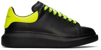 Alexander McQueen SSENSE Exclusive Black and Yellow Oversized Sneakers