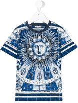 Dolce & Gabbana Majolica sun print T-shirt - kids - Cotton - 6 yrs