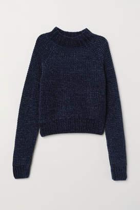 H&M Rib-knit Sweater - Blue