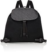 Bottega Veneta Men's Intrecciato-Flap Drawstring Backpack-BLACK