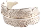 LeiVanKash Silver Feather Ring Size 6 $200 New 80567