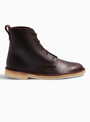 Clarks TopmanTopman Brown Leather Desert Mali Boots