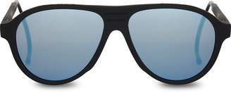 Toms TRAVELER Zion Matte Black   Polarized Blue Mirrored Lens