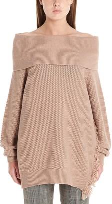 Stella McCartney Off-Shoulder Oversized Sweater