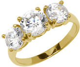 Lord & Taylor 18Kt Gold Over Sterling Silver and Cubic Zirconia Ring