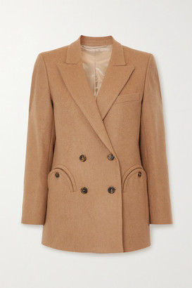 BLAZÉ MILANO Cholita Everyday Double-breasted Camel Hair And Wool-blend Blazer